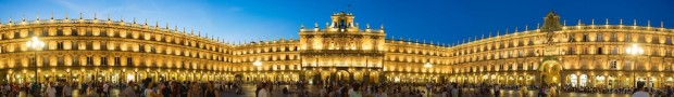 Salamanca's gorgeous Plaza Mayor, one of the largest squares in Europe. Every night just after sunset, the lights came on to a chorus of oohs and ahh